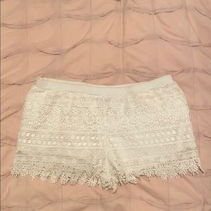 H&M crochet shorts